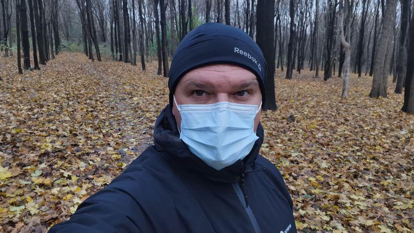 Ion Ceban arată că aleargă în pădure cu mască: Se cere un minim efort