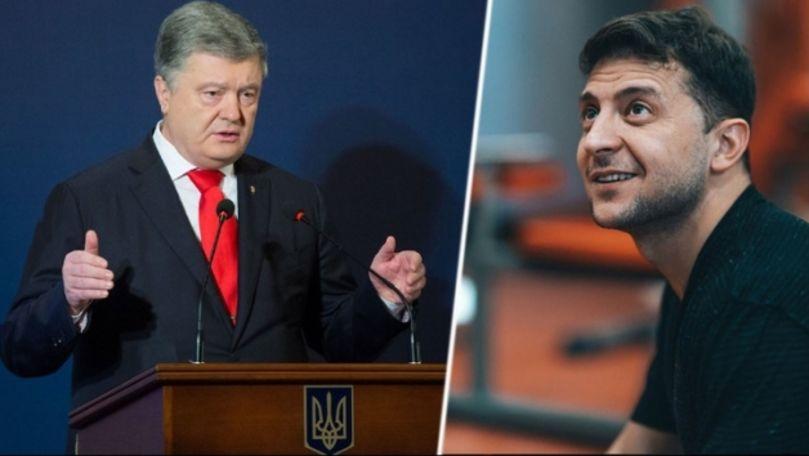 Dezbaterea dintre Poroșenko și Zelenski a avut loc la Kiev