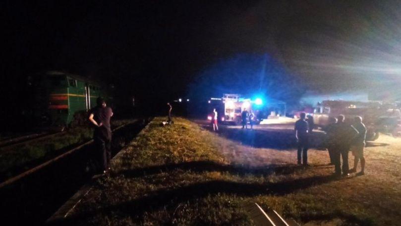Accident feroviar la Sângerei: Un bărbat a fost lovit de un tren