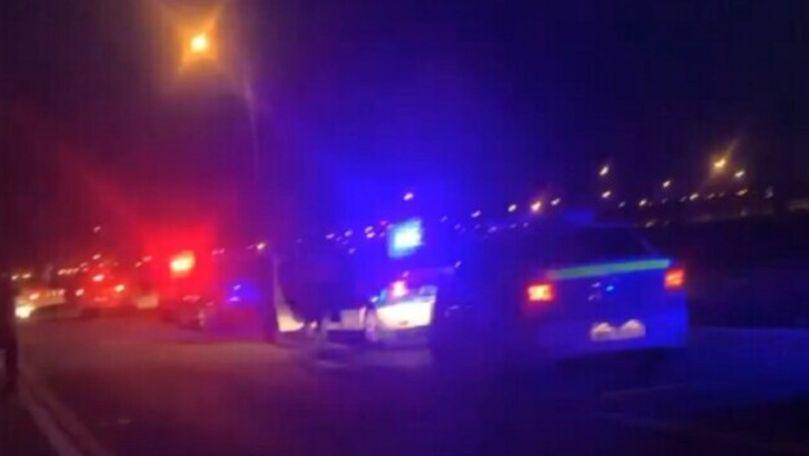 Conflict spontan în trafic: 2 bărbați împușcați cu un pistol de tip airsoft