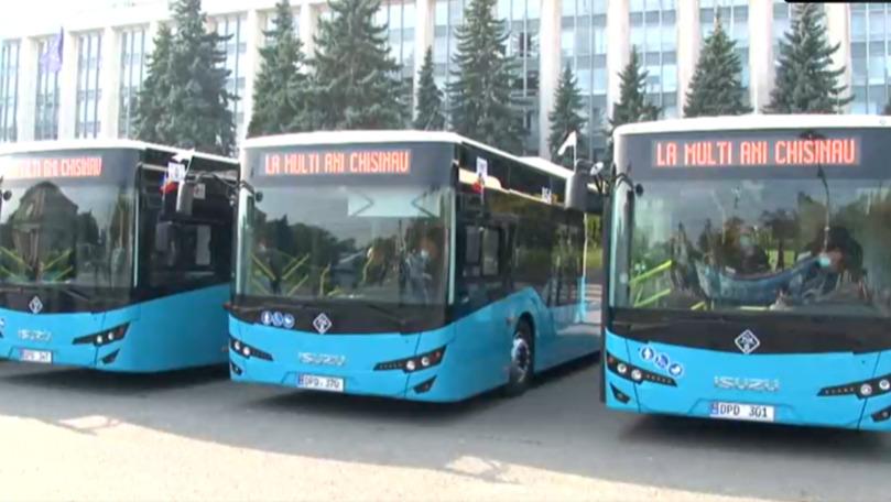 Chișinău: Alte 9 autobuze de model ISUZU au fost lansate pe rute