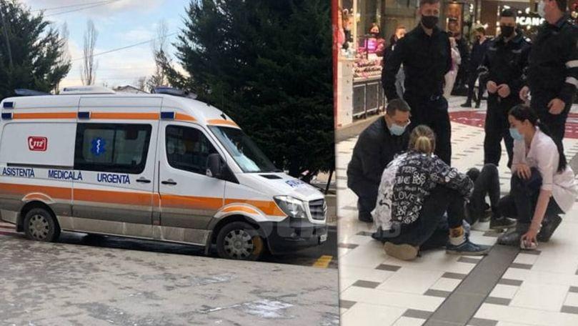 Alertă 112: Un tânăr a căzut în gol într-un mall din Chișinău