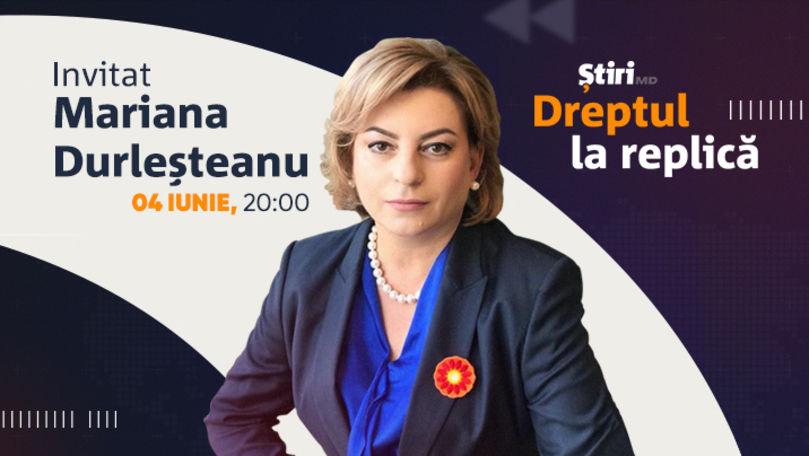 Mariana Durleșteanu, invitata emisiunii Dreptul la Replică de la Știri.md