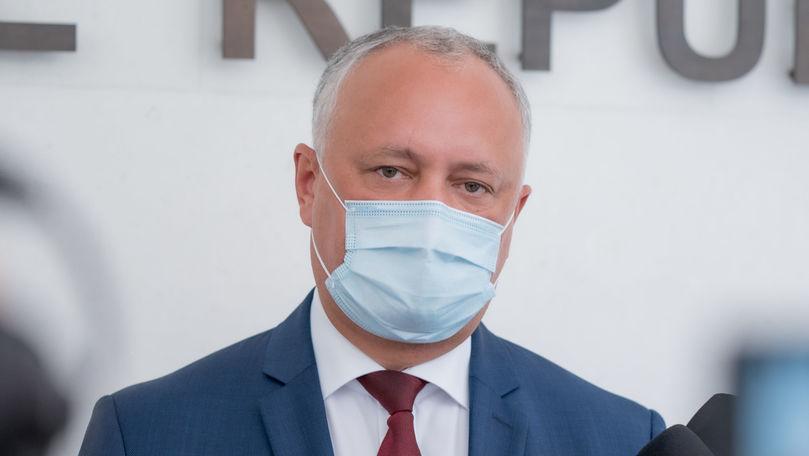 Dodon: Sandu și Guvernul nu vor să-și asume eșecul privind negocierile cu Gazprom