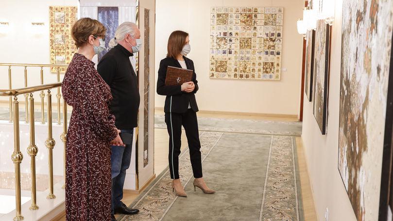 Expoziție de artă la Președinție: Sandu spune când va putea fi vizitată