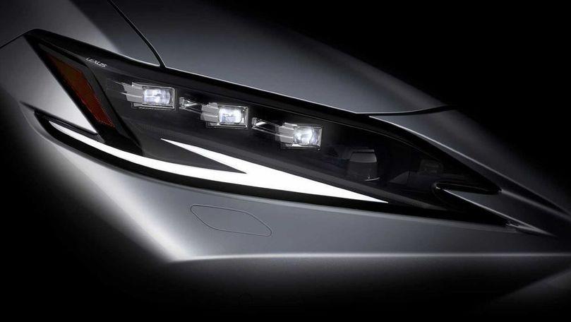 Teasere noi pentru Lexus ES facelift: Debutează pe 19 aprilie