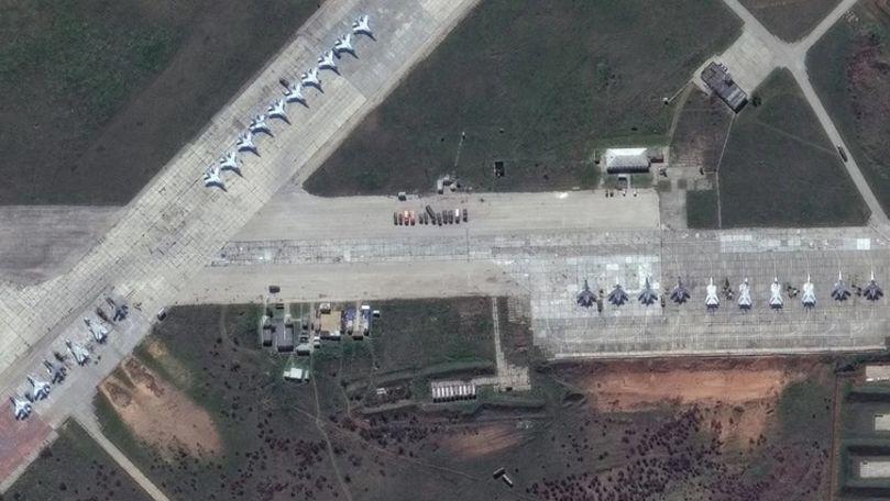 Imagini din satelit care arată ce a dislocat Rusia la graniţa cu Ucraina
