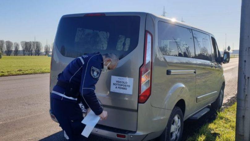 Amendă record pentru un șofer moldovean care a fost oprit în Italia