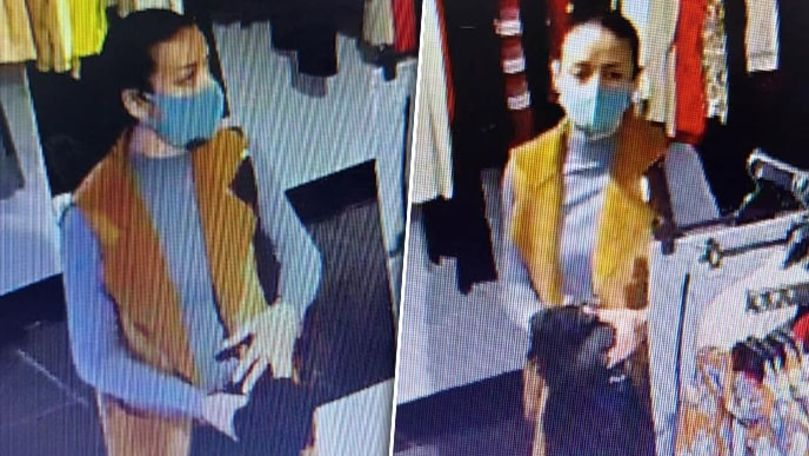 O femeie, filmată cum fură haine dintr-un magazin în Capitală