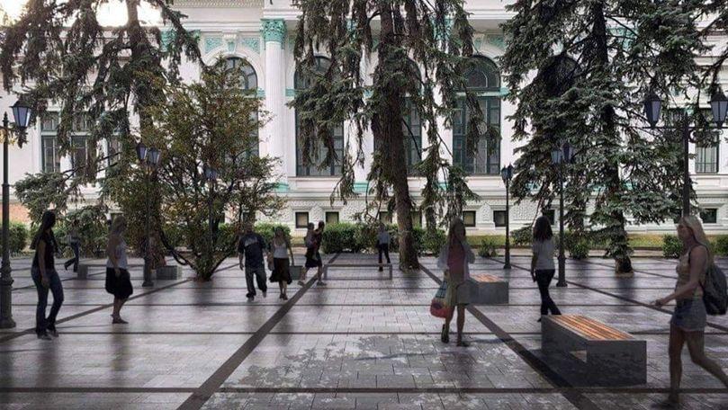 Scuarul Mihai Eminescu va fi supus unui experiment. Planul autorităților