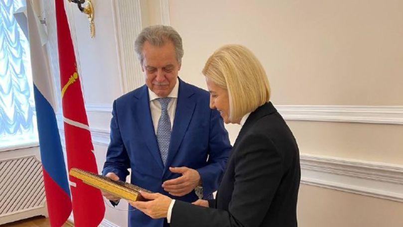 Irina Vlah efectuează o vizită în Federația Rusă: Cu cine s-a întâlnit