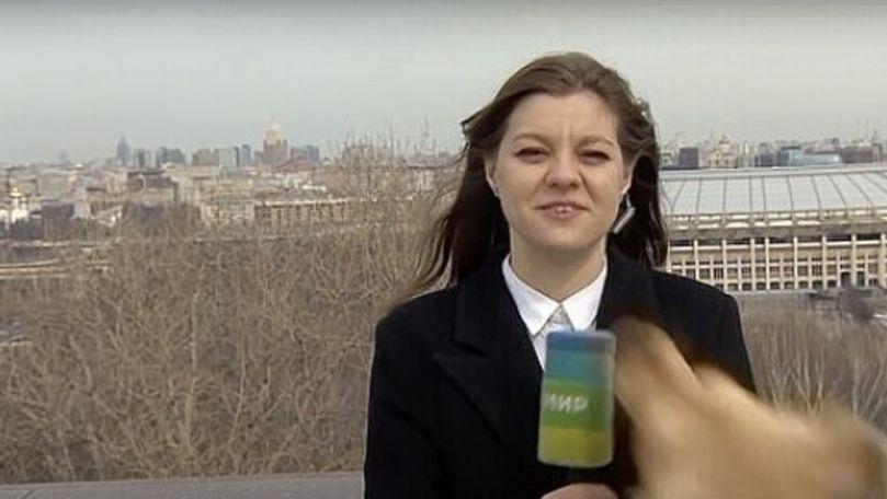 Imagini virale: Ce a pățit o jurnalistă din Rusia în timpul unui live