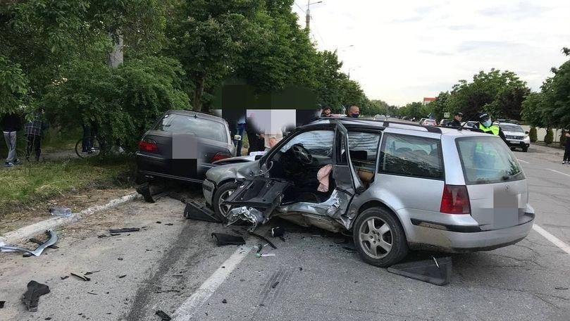 Grav accident la Ialoveni: 4 răniți, printre care 3 minori