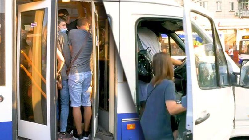 Microbuze și troleibuze, pline până la refuz în pandemie. Ce spun șoferii