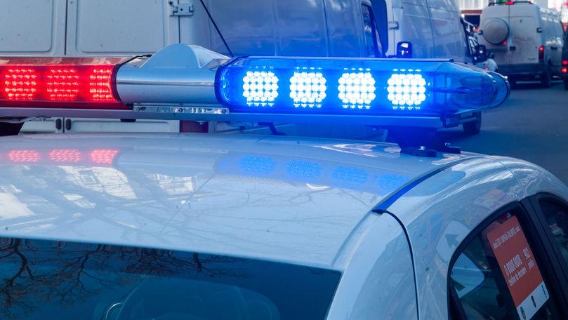 Accident rutier în Capitală: Mașina Poliției, făcută zob