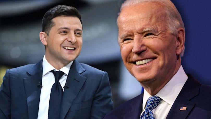Joe Biden a anunțat când îl va primi pe Vladimir Zelenski la Casa Albă