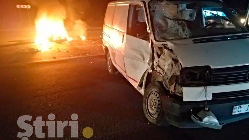 Motocicletă, implicată în accident la Dănceni. Un mort și un rănit