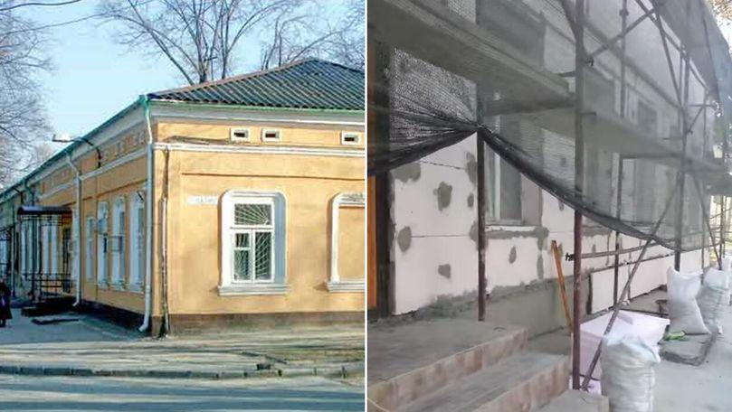 Monument de arhitectură, transformat în frigider pavat cu penoplast