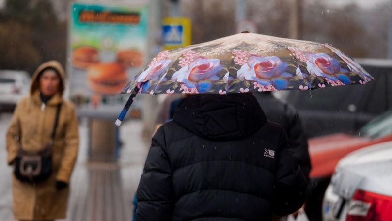 Ploi în toată țara 4 zile la rând: Câte grade vor indica termometrele