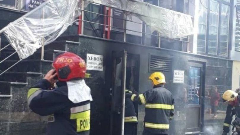 A ars subsolul sediului Ministerului Tehnologiilor și Poștei Moldovei