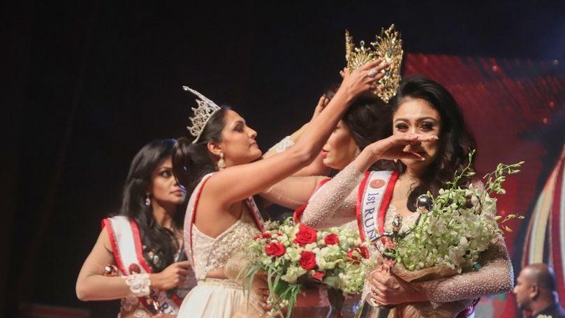 Câştigătoarea Mrs Sri Lanka, rănită pe scenă de o fostă deţinătoare a titlului