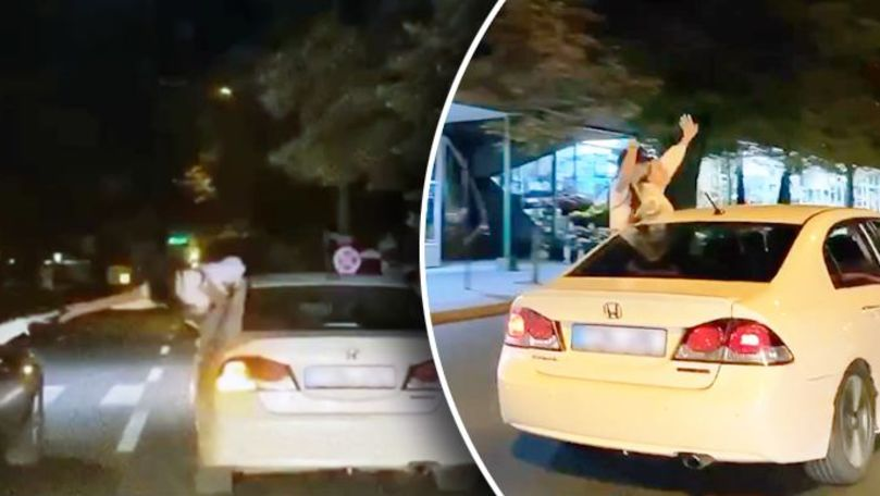 Plimbări periculoase cu mașina: Cum s-au filmat mai mulți tineri