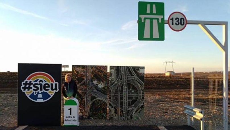 Autostrada de un metru a devenit loc de pelerinaj pentru susţinătorii protestului #şîeu
