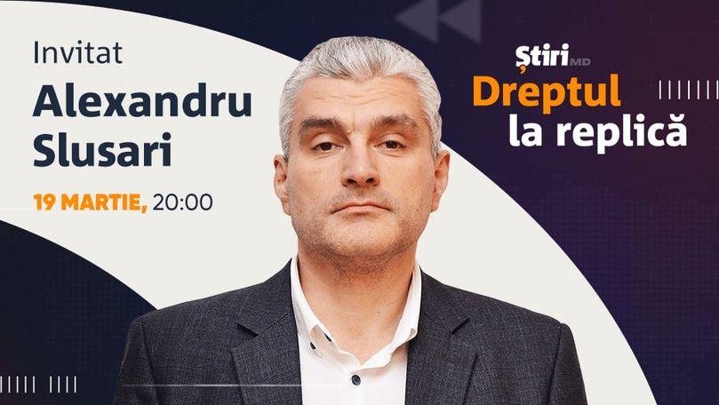 Alexandru Slusari, invitatul emisiunii Dreptul la Replică de la Știri.md
