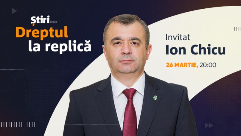 Ion Chicu, invitatul emisiunii Dreptul la Replică de la Știri.md