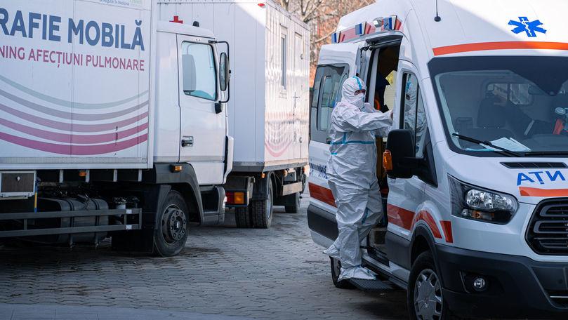 Scad cazurile active în Moldova: 51 de pacienți sunt intubați