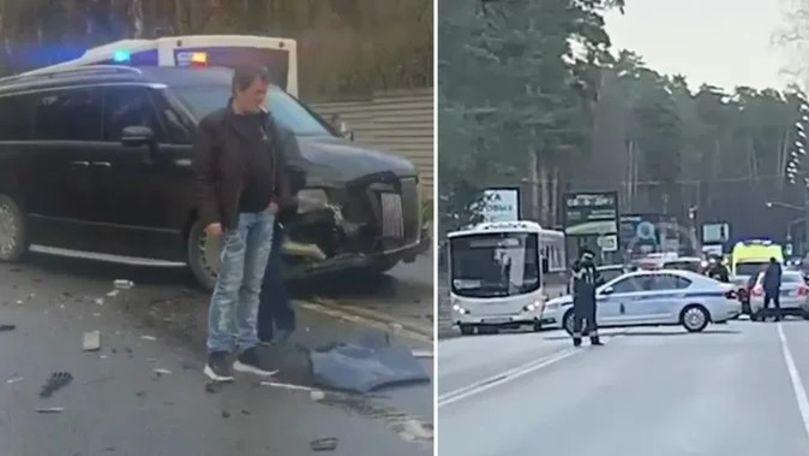 Accident grav cu o mașină rară din coloana oficială, filmat în Rusia