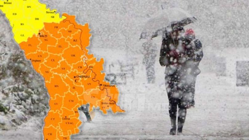 Alertă meteo: Cod Portocaliu de lapoviță și ninsoare. Zonele vizate