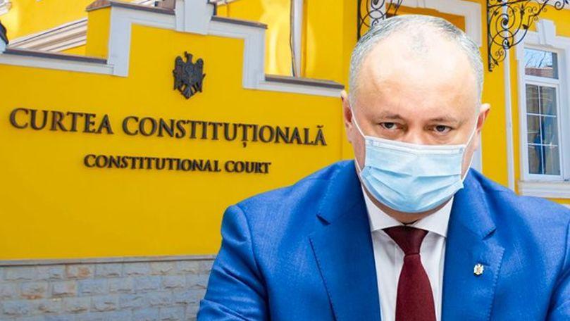 Prima reacție a lui Dodon după ce CC a permis dizolvarea Parlamentului