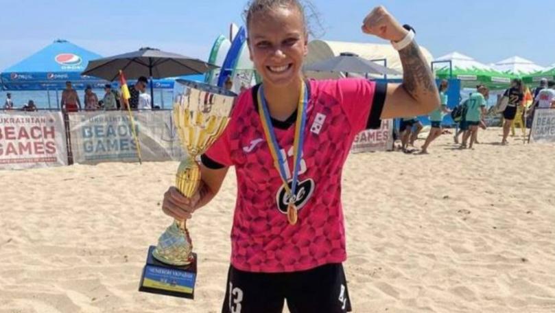 Jucătoarea din țară care a marcat în Liga Campionilor la fotbal pe plajă