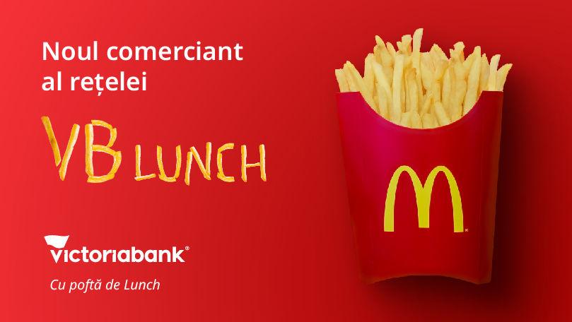 McDonald's, partenerul proiectului Victoriabank Lunch (P)