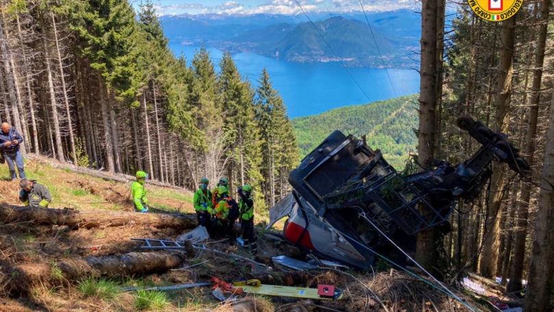 O cabină de teleferic s-a prăbușit de la înălțime în Italia: Cel puțin opt morți