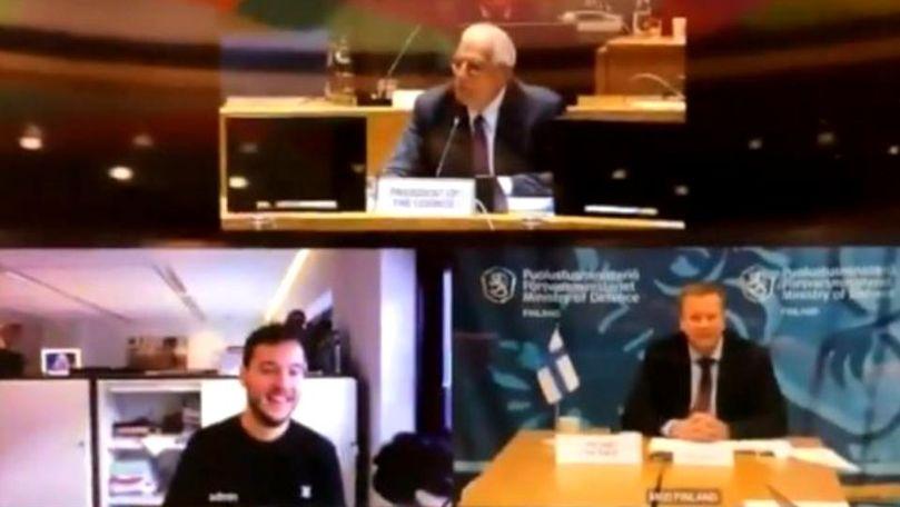 Un jurnalist a intrat în conferința miniștrilor UE: Știți că e secretă?