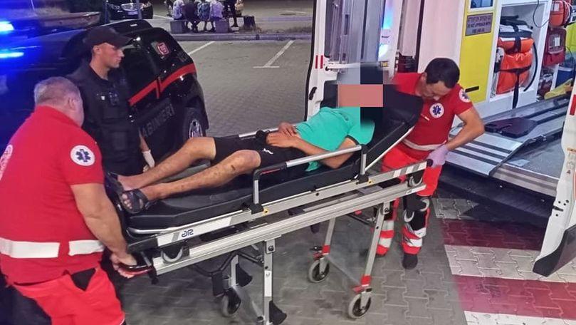 Un bărbat, găsit  în fața unui supermarket în stare inconștientă