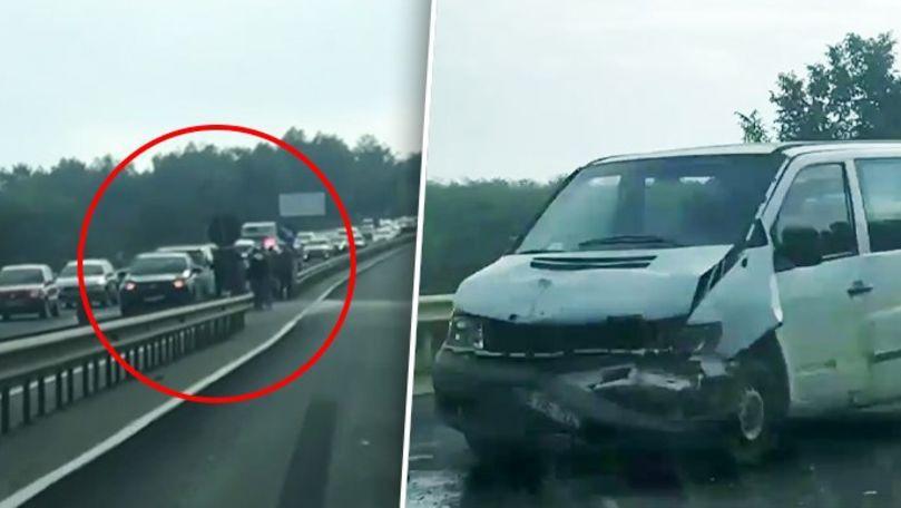 Accident în lanț la Măgdăcești: 3 automobile s-au ciocnit