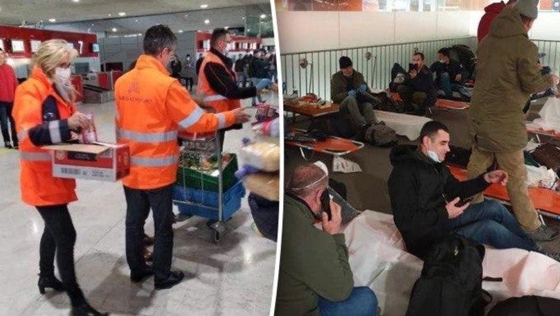 Francezii au împărțit mâncare și paturi moldovenilor blocați pe aeroport