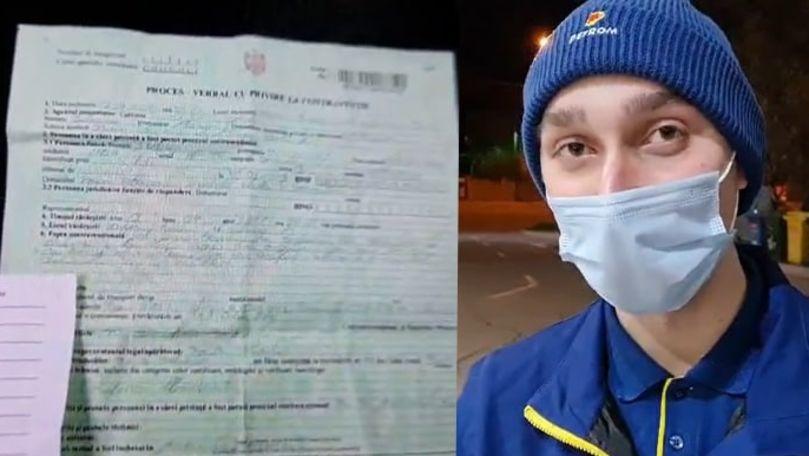 Angajatul unei benzinării din Chișinău, amendat pentru că nu avea buletinul la el