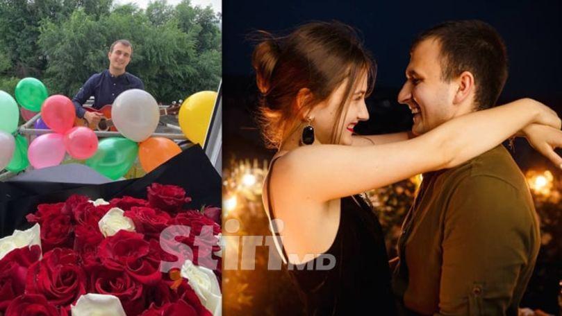 Serenadă la etajul 4, filmată la Chișinău: Amorezul a folosit macaraua