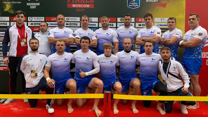 Naționala Moldovei a urcat pe podium la Europenele de rugby pe plajă