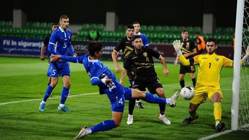 Naționala de tineret a Moldovei a învins Gibraltarul cu 1-0