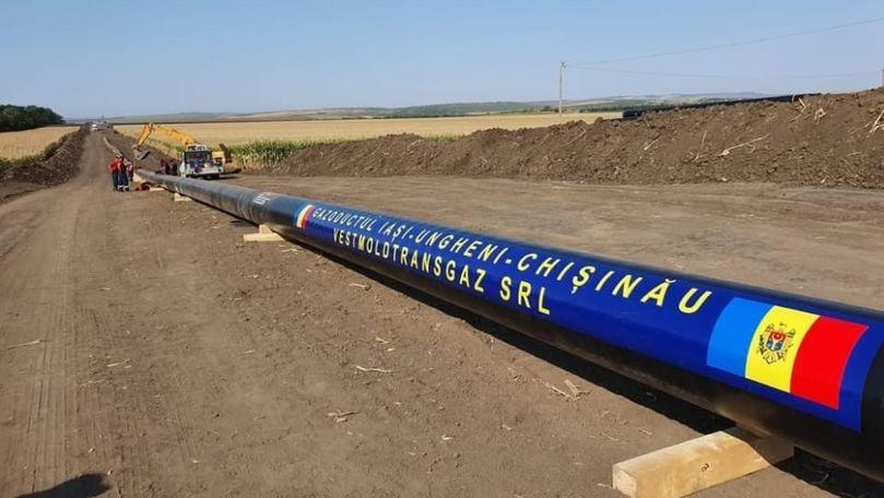 Gazoductul Iaşi-Chişinău ar putea fi funcţional de săptămâna viitoare