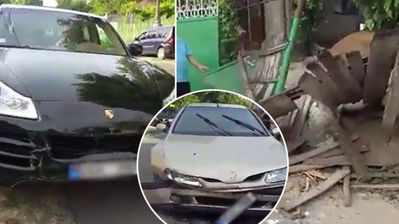 Șoferița cu Porsche, filmată cum a distrus gardul unei case în 2018
