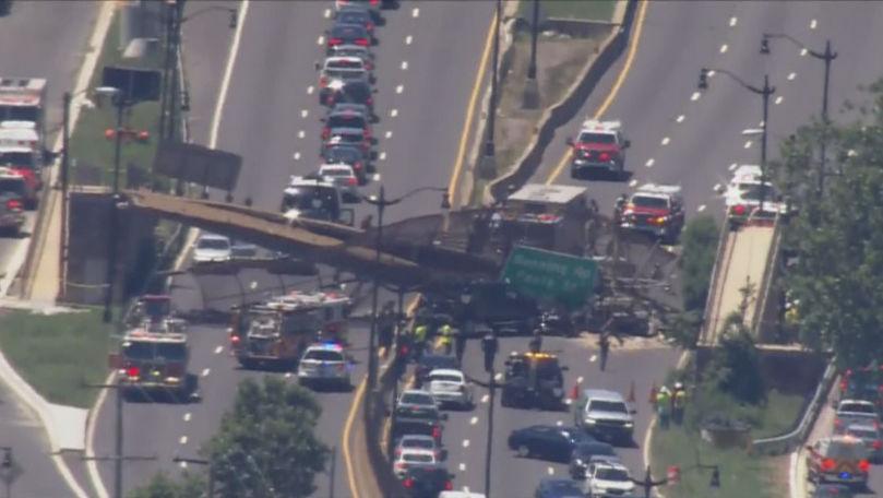 Un pod pietonal s-a prăbușit în Washington: 5 persoane rănite