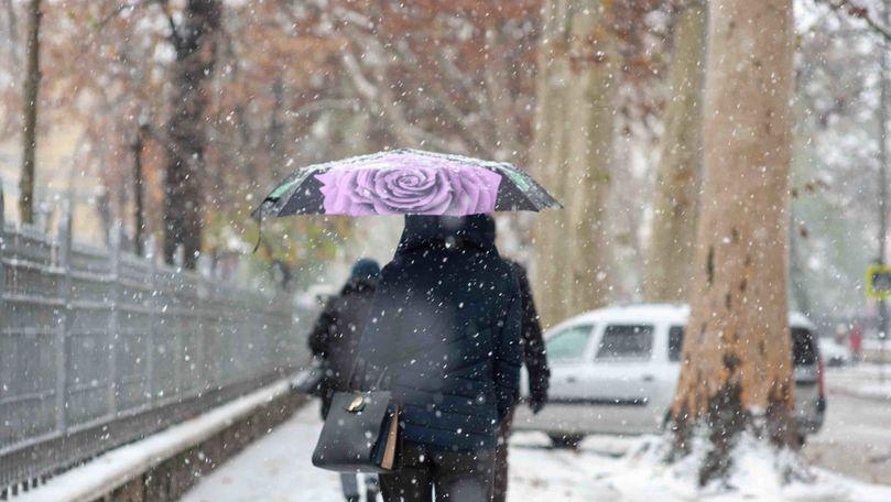 Meteo 8 ianuarie 2021: Zona din țară cu ninsori și lapoviță