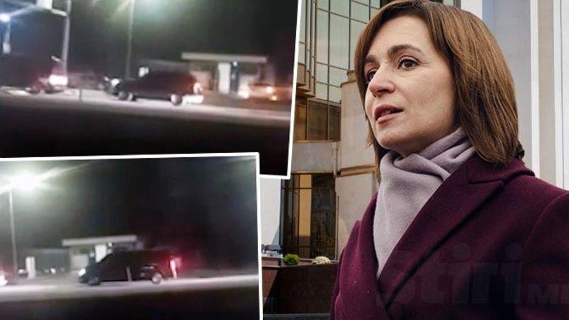 Președinția neagă filmarea din vamă: Maia Sandu a plecat cu două mașini