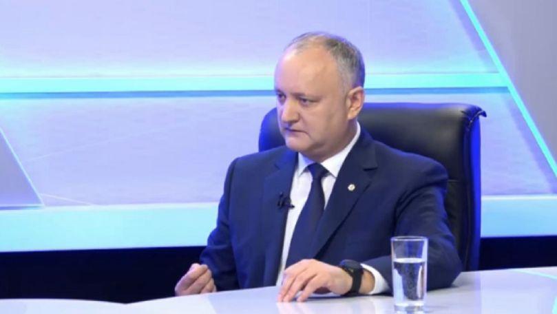 Două falsuri au fost găsite într-o singură frază a lui Igor Dodon la TV